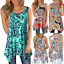 Sleeveless-Shirt-Asymmetrical-Loose-Tunic-Blouse-Tops-Vest-Casual-Printed-Women thumbnail 3