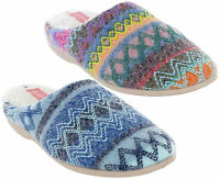 Dunlop Mule Knitted Fur Lined Womens Agace Slip On Winter Slippers UK 3-8