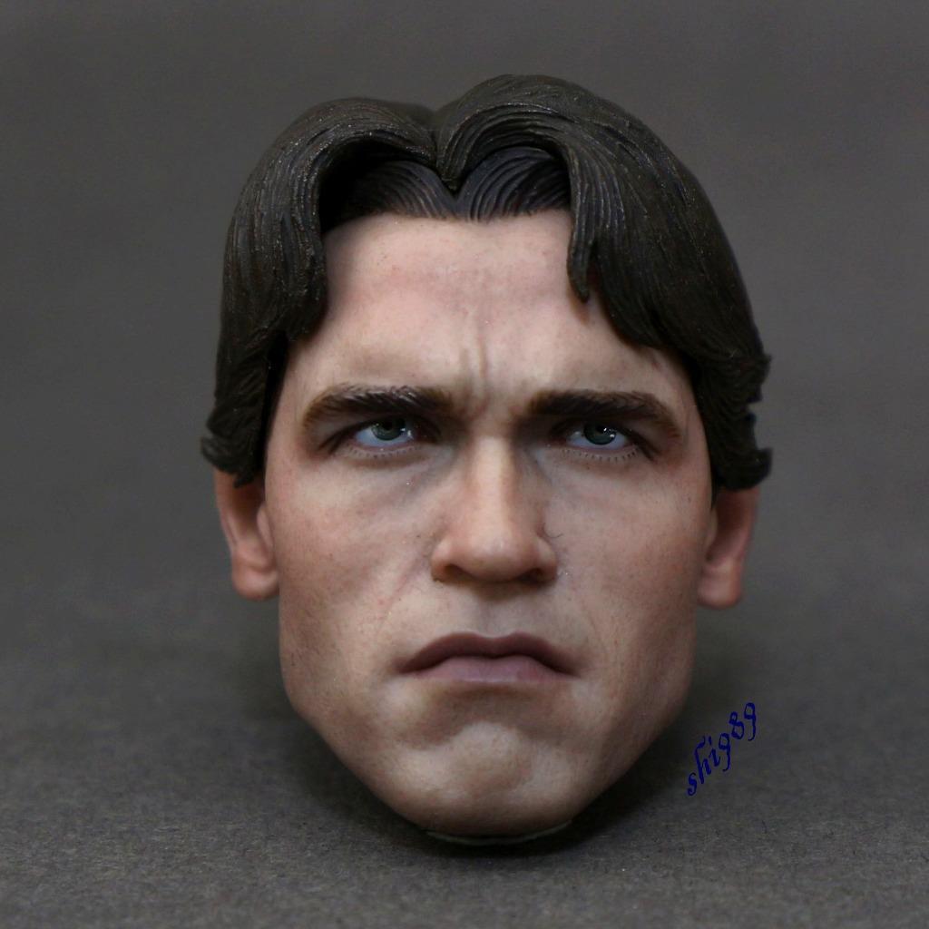 1 6  caliente giocattoli MMS136 The Terminator T1 T-800 cifras Head Sculpt  nuova esclusiva di fascia alta