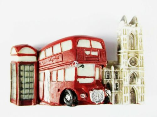 Magnet London Westminster Red Bus Polyresin,Souvenir Great Britain
