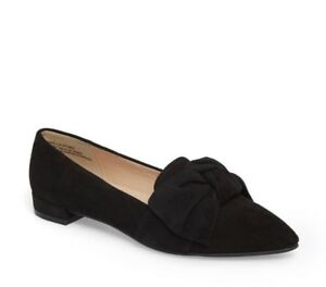 4aa9db150ea BP. Women s Kari Bow Pointed Toe Loafer Size 8.5 Black Suede