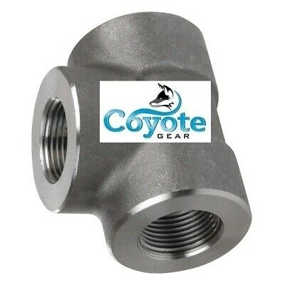 """High Pressure 1//2/"""" NPT Forged Steel Pipe Thread Half Coupling 3000# Coyote Gear"""