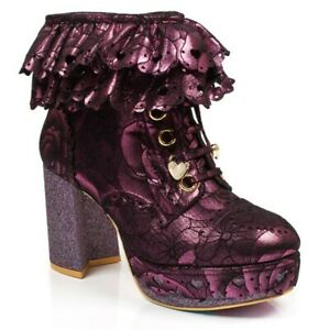 NEW-IRREGULAR-CHOICE-FRILLY-KNICKERS-PINK-C-ANKLE-BOOTS