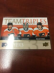 2019-20 UD TEAM TRIPLES PHILADELPHIA FLYERS GOLD SSP RARE *SOLD IN CANADA ONLY*