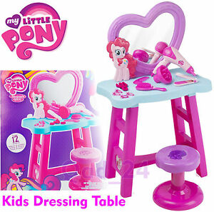 My Little Pony Dressing Table For Girls Mirror Stool