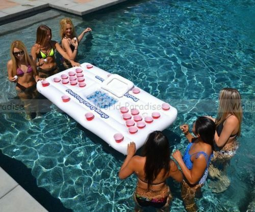 Bière pong gonflable 2019 - Beer pong table pool summer water party NEW alcool !