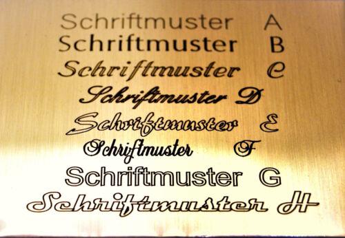 Namensschilder Namensschild Messing Poliert incl.Gravur