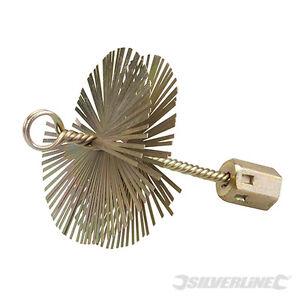 Silverline  - Rohrbürste aus Stahldraht 100mm 417961