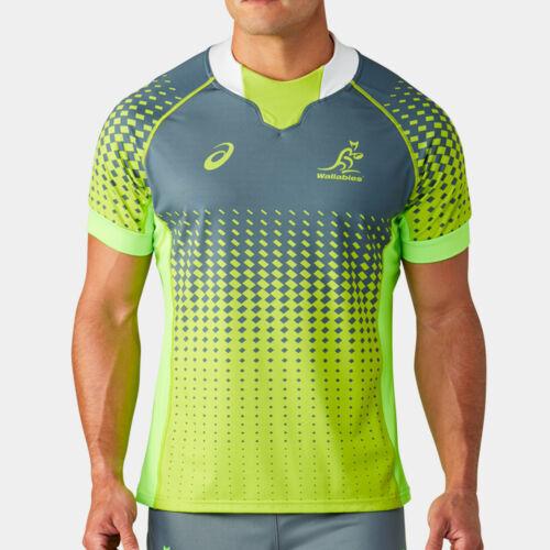 Asics Mens Australia Wallabies 19//20 Players S//S Match Day Rugby Training Shirt