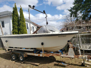 DIESEL 17.5' Wilkers boat with solid tandem trailer, one of a ki