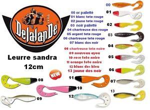 Lot-de-2-Leurres-souple-Sandra-12cm-DELALANDE-lt-lt-news-color-2015-gt-gt