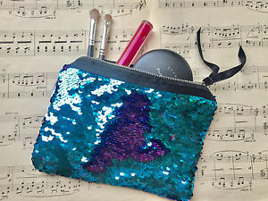 55a2f6308a Image is loading Flip-Sequin-Make-Up-Bag-Reversible-Mermaid-Sequin-