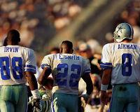 Dallas Cowboys Troy Aikman, Michael Irvin & Emmitt Smith Glossy 8x10 Photo Print