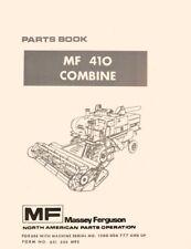 Massey Ferguson Mf410 Mf 410 Combine Parts Book Manual Ser 1200006777 And Up