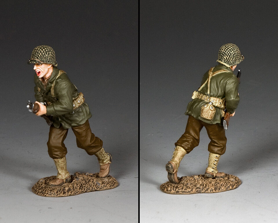 KING AND COUNTRY WW2 US Charging Rifleman D Day DD307