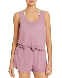 fb7104dab9 NWT Becca by Rebecca Virtue Mauve Knot Romper Swimsuit Cover Up ...