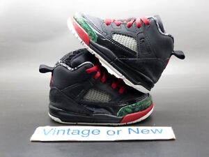 buy popular 3ab56 044d7 Image is loading Nike-Air-Jordan-Spizike-Black-Red-Classic-Green-