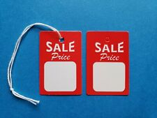 Sale Price Tags With String Or Unstrung Red White Small Retail Coupon