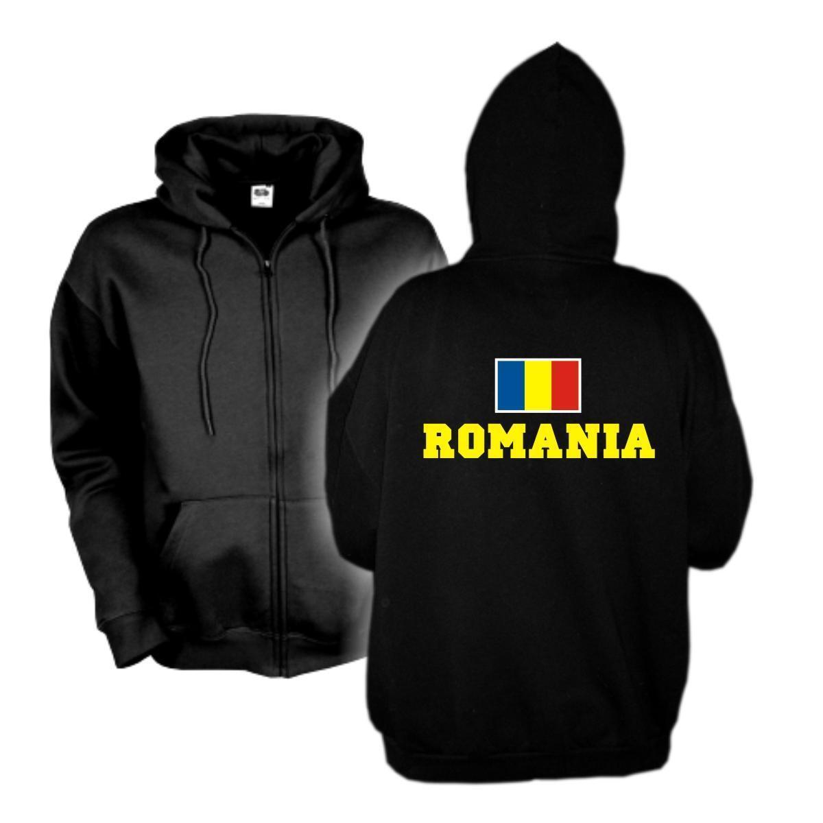 Kapuzenjacke RUMÄNIEN Romania Flagshirt Zip Hoodie Sweatjacke S-6XL (WMS02-51e)