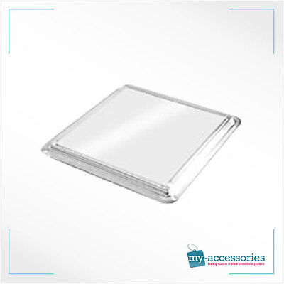 Blank Square Coaster Printed Insert //Photo Advertising Plastic 80x80mm