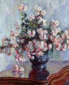 Monet-1882-Chrysanthemums-Fade-Resistant-HD-Art-Print-or-Canvas