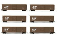 Rivarossi L&N Sliding Door Box Car HO Scale Train Car - Set Of 6 Cars