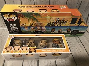 Funko Pop ALOHA PLATE Triple Signed Auto Limited Asia Exclusive Food Network