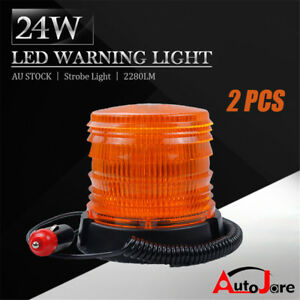 Traffic Light New Led Rotating Flashing Amber Beacon Flexible Tractor Warning Light 12v-24v Roadway Safety Highly Polished