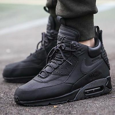 Nike Air Max 90 Sneakerboot WNTR Shoe Sz 8.5 Mens Black Black 684714-002 39a36d1b4