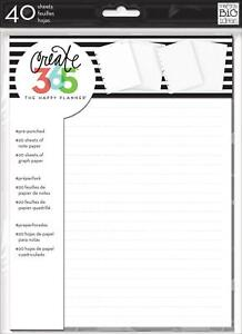 me & my BIG ideas Create 365 The Happy Planner Note and Graph Paper, 7x9-Inch