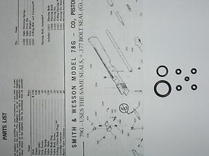 E-Z Seal Guide Smith /& Wesson 78 g 79 g O-Ring Seal Kit-EXP View /& liste de pièces