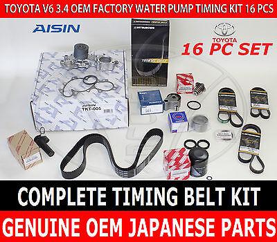 TOYOTA 3.4 V6 AISIN TKT-005 COMPLETE 11pcs TIMING BELT & PUMP KIT