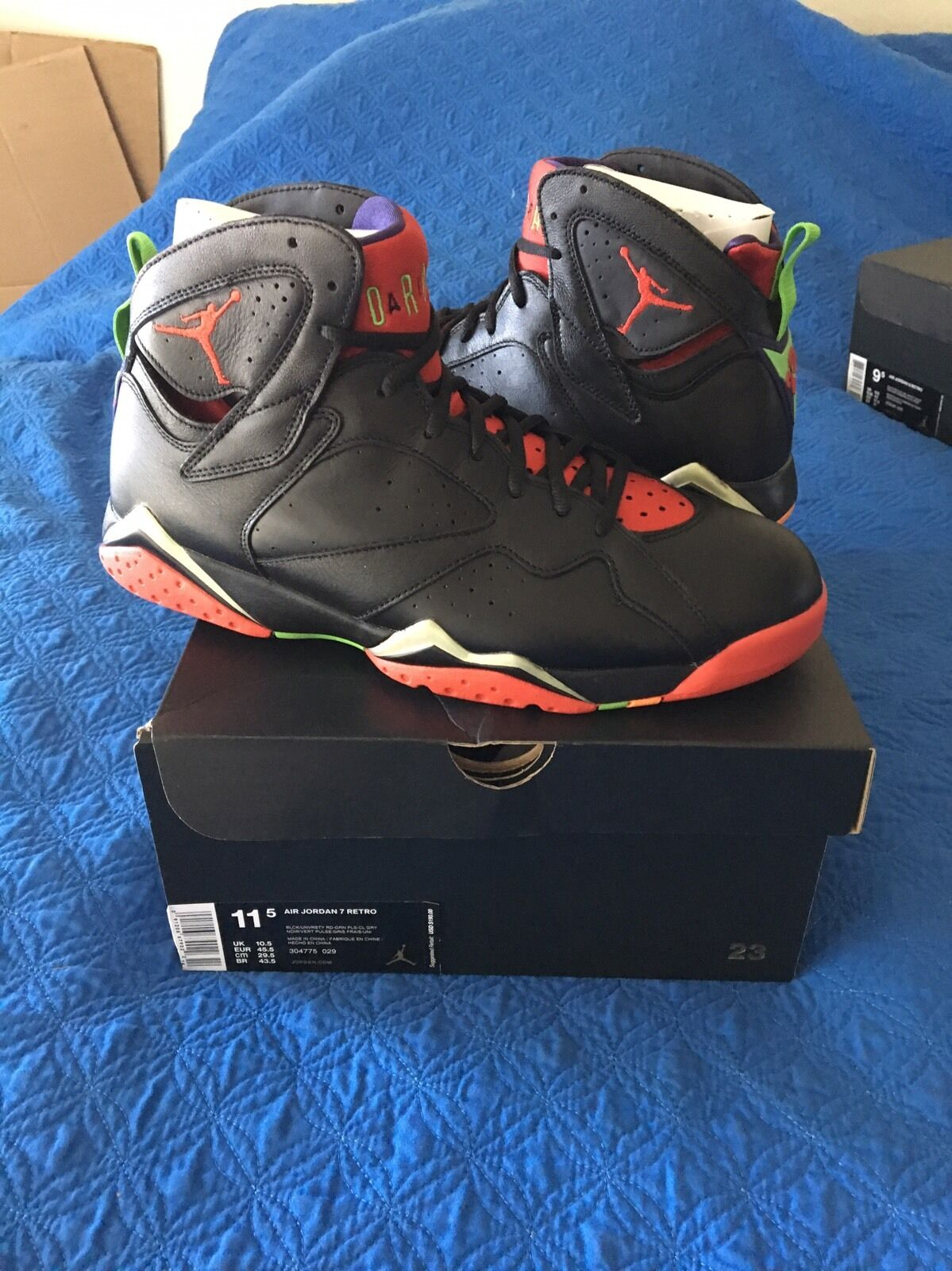 Nike Air Jordan Retro 7  VII Size 11.5  marvin the martian DS