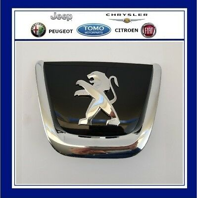 NEW GENUINE PEUGEOT 308 FRONT BUMPER LION BADGE CHRONIUM GREY 7810AN