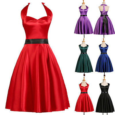 5 COLOR MINI DRESS GOTH 50s VINTAGE SWING PUNK RETRO SUNDRESS PLUS XL