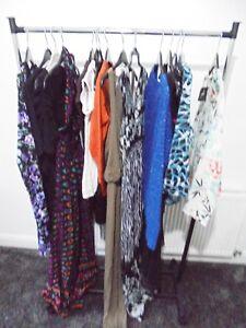 Bundle-Donna-Abiti-Abbigliamento-Taglia-8-LOTTO-rivendere-Carboot-13-oggetti