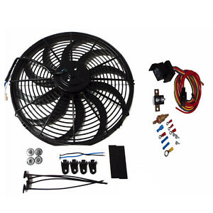 16-INCH-ELECTRIC-RADIATOR-COOLING-FAN-12v-3000cfm-RELAY-THERMOSTAT-KIT