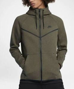 Details about Nike Men Sportswear Tech Fleece Windrunner Small OliveHeatherBlack, 805144 222