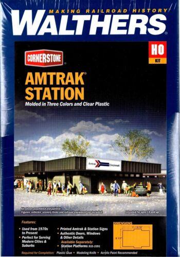HO Scale Walthers Cornerstone 933-3038 Amtrak Passenger Station Building Kit