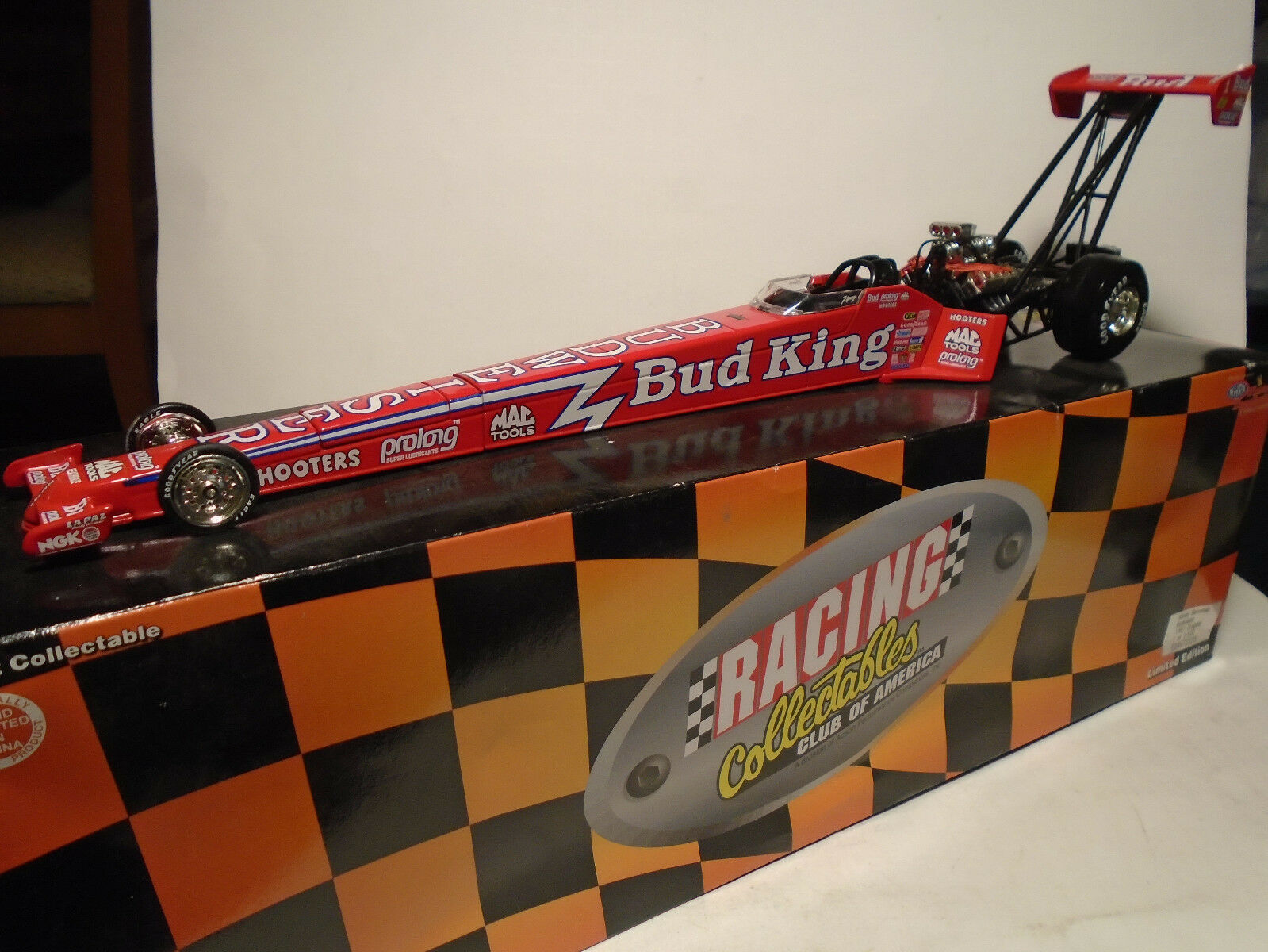 ACTION PERFORMANCE KENNY KENNY KENNY BERNSTEIN BUDWEISER 1997 DRAGSTER NEW IN BOX 5c52b4