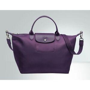 Image is loading Clearance-Longchamp-Le-Pliage-Neo-Medium-Handbag-Bilberry- 51358722b5495