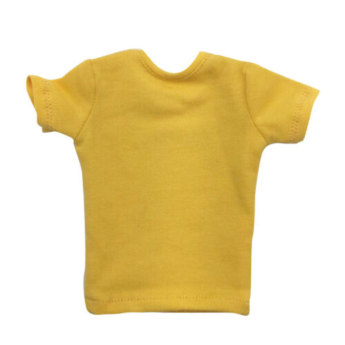 """1//6 Scale Action Figures Male Letter T-Shirt for 12/"""" Dolls Body Accessories"""