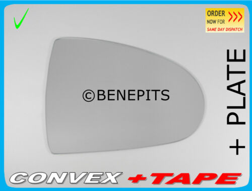 PLATE Convex #273 Right Wing Mirror Glass For MITSUBISHI COLT 2002-2012 HEATED