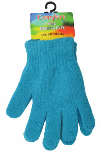 Kids Gloves Pair Magic Winter Warm Girls Boys Stretch Soft Children Unisex
