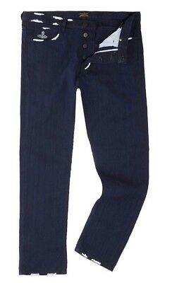 Vivienne Westwood Uomo Jeans Taglia 32r Nuovi Con Etichetta Prezzo Consigliato £ 160-mostra Il Titolo Originale Completa In Specifiche