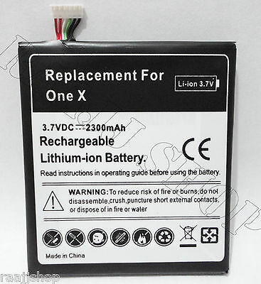 NEW 2300mAh HIGH CAPACITY BATTERY FOR HTC ONE X REPLACE PART NO BJ83100 35H00187