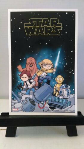 Lot of 2 Star Wars Lithograph Skottie Young 7 x 10 1//2 Limited Edition Art Print