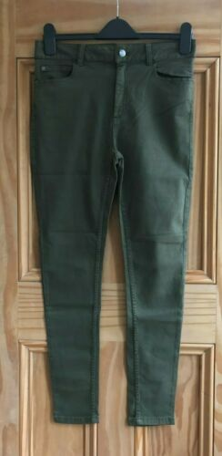 M/&S New Pink Mint Khaki Green White Tencel Super Skinny Jeans Trousers Size 6-22