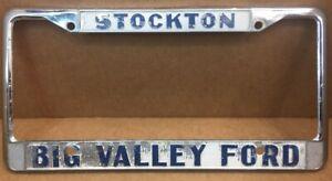 Big Valley Ford >> Details About Stockton Ca Big Valley Ford Car Dealer License Plate Frame Vintage