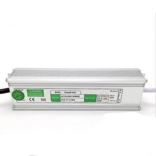 DC 12V 10W 220W IP67 Waterproof LED Light Strip Bulb Transformer Power Driver